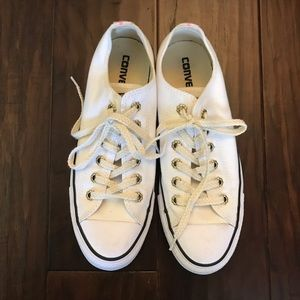 NEW White Converse with Tribal Detail